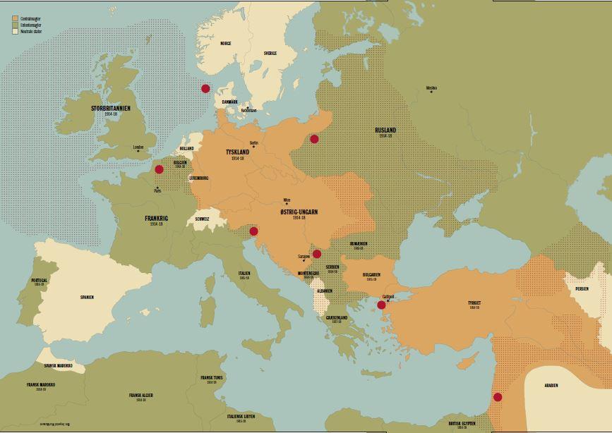 1 Verdenskrig Den Store Krig Danmark 1914 18